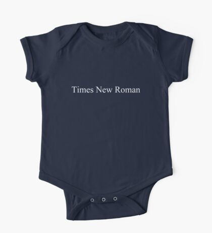 Times New Roman (white) One Piece - Short Sleeve