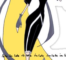 Mad Alice as a Black Lantern: I'm Late Sticker