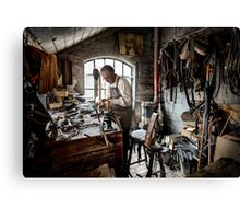 Leather smith Canvas Print