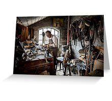 Leather smith Greeting Card
