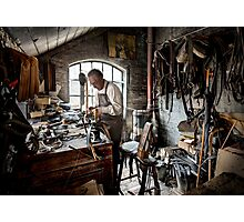 Leather smith Photographic Print