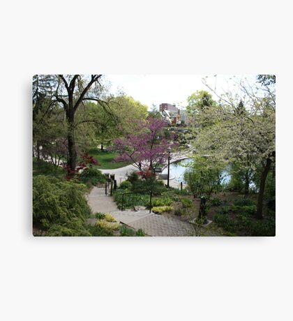 Pathway Around Mirror Lake Canvas Print