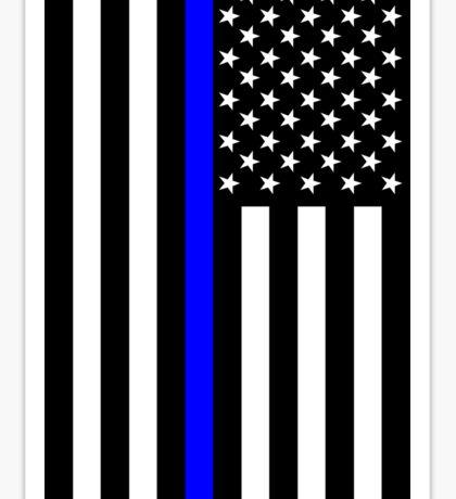 The Symbolic Thin Blue Line on US Flag Sticker
