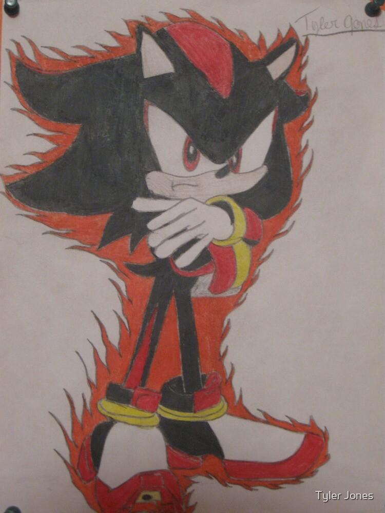 Shadow The Hedgehog Drawing by Tyler Jones