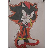 Shadow The Hedgehog Drawing Photographic Print