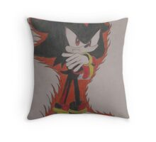 Shadow The Hedgehog Drawing Throw Pillow
