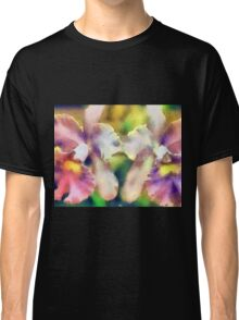 Orchids - pink/yellow ... no border Classic T-Shirt