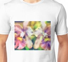Orchids - pink/yellow ... no border Unisex T-Shirt
