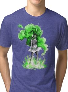 Rainbow Punk: Malachite Bassdrop Tri-blend T-Shirt