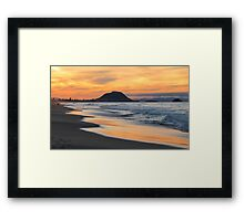 sunset at the Mount Framed Print