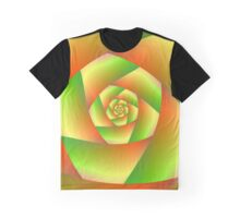 Spiral in Yellow Orange and Green Graphic T-Shirt