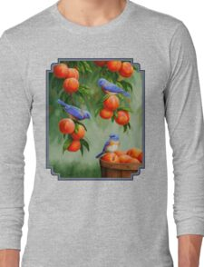 Bluebirds and Peaches Long Sleeve T-Shirt