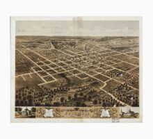 Panoramic Maps Bird's eye view of the city of Columbia Boone Co Missouri 1869 One Piece - Short Sleeve