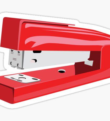 Red Stapler Sticker