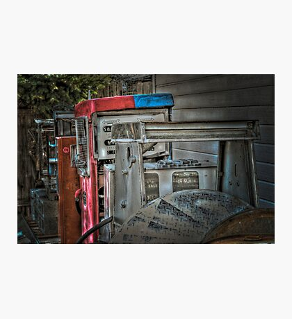 Bill's Old Gas Pumps Photographic Print