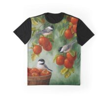 Bird Painting - Apple Harvest Chickadees Graphic T-Shirt