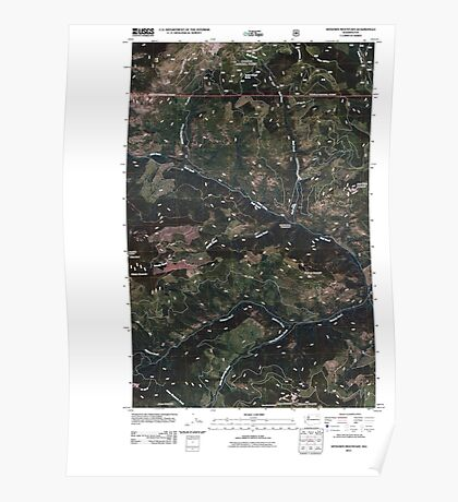 USGS Topo Map Washington State WA Sitdown Mountain 20110509 TM Poster
