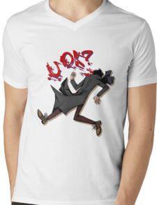 Sherlock: u ok? (without background) Mens V-Neck T-Shirt