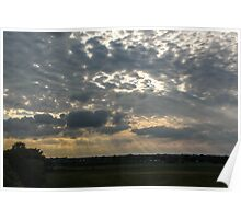 Rays through the Clouds Poster