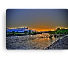 May Day Sunrise Over the River Canvas Print