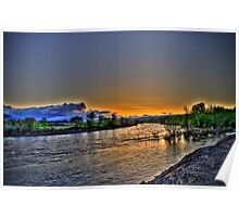 May Day Sunrise Over the River Poster