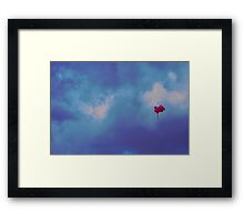 Pink balloons on a blue sky Framed Print