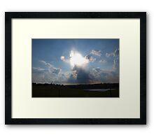 Approaching angel Framed Print