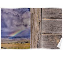Storm and Rainbow Behind the Shed Poster