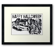 Halloween Zombies Framed Print