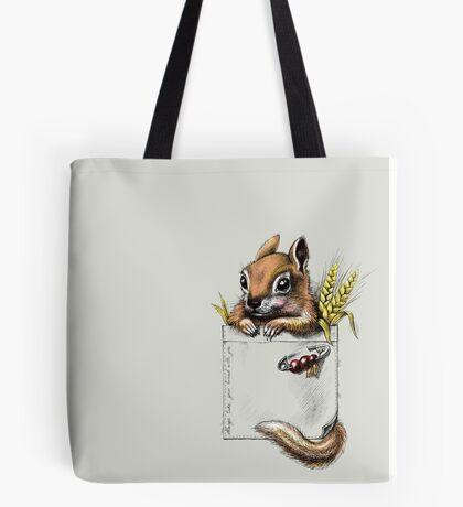 Pocket chipmunk Tote Bag