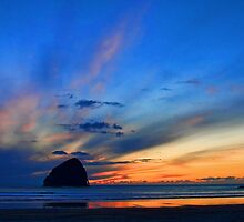 Oregon Coastal Sunset by Charles Tribbey