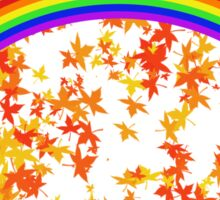 Rainbows and Maple Leaves Sticker