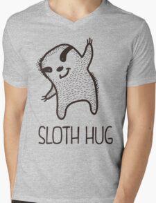 Sloth Hug Mens V-Neck T-Shirt