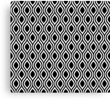 Modern Classic Black Pattern Canvas Print