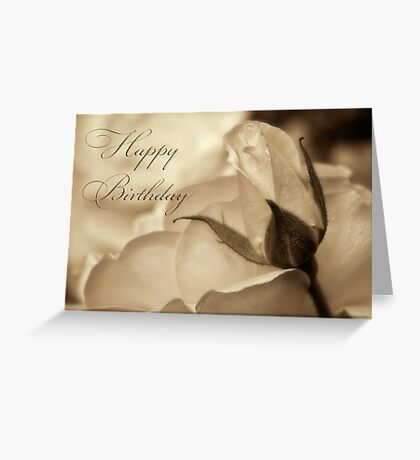Romance in  sepia - Birthday Greeting Card