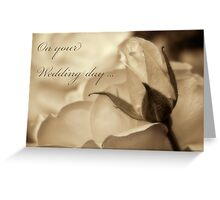 Romance in  sepia - Wedding Greeting Card