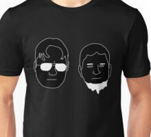 Schrute Cousins (white on black) Unisex T-Shirt