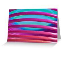 Rainbow Slinky 4 Greeting Card