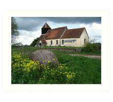 St John's Church, Farley Chamberlayne Art Print