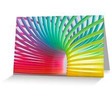 Rainbow Slinky 5 Greeting Card