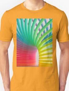 Rainbow Slinky 5 Unisex T-Shirt