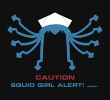 CAUTION Squid Girl Alert! degeso~ Kids Tee