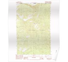 USGS Topo Map Washington State WA Boundary Mtn 240172 1983 24000 Poster