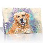 Watercolor Pet Canvas by SnappyCanvas