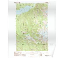 USGS Topo Map Washington State WA Bacon Peak 239891 1989 24000 Poster