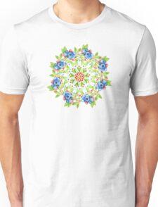 Maine Blueberry Gingham Mandala Unisex T-Shirt