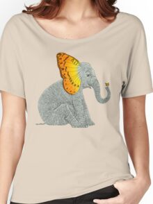 Elephant and Butterfly Women's Relaxed Fit T-Shirt
