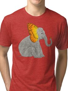 Elephant and Butterfly Tri-blend T-Shirt
