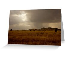 Clouds Over the Serengeti  Greeting Card