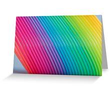 Rainbow Slinky 6 Greeting Card